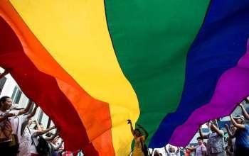 CT Post rainbow flag
